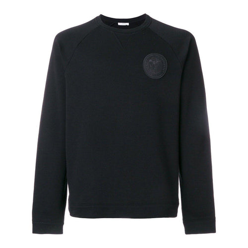 VERSACE COLLECTION Chest Logo Activewear Sweatshirt, Black-OZNICO