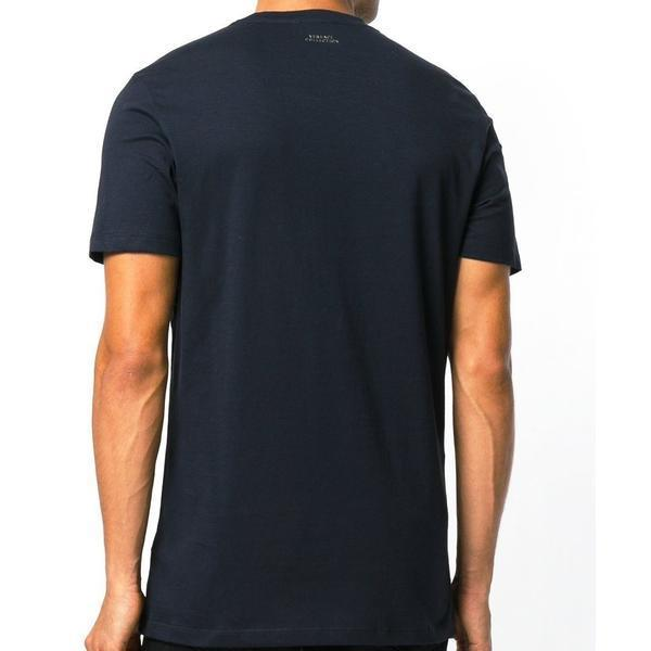 VERSACE COLLECTION Cross Studded T-Shirt, Blue-OZNICO