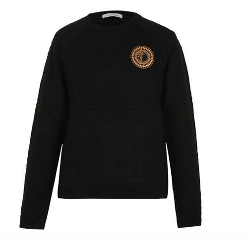 VERSACE COLLECTION Knit Sweatshirt, Black-OZNICO