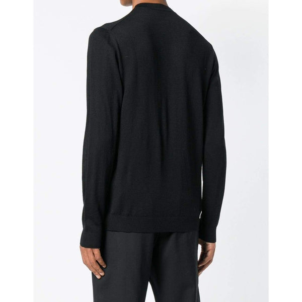 VERSACE COLLECTION Knitted Pullover Sweater, Black-OZNICO