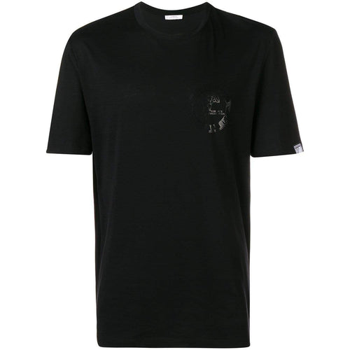 VERSACE COLLECTION Logo Stamp T-Shirt, Black-OZNICO
