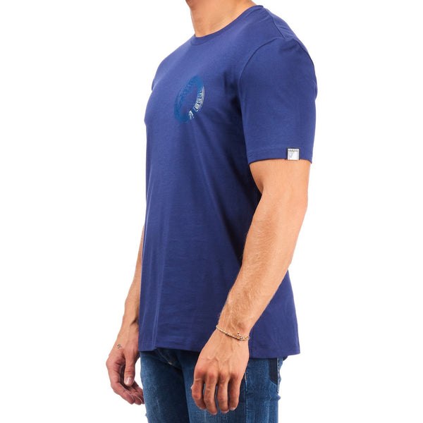 VERSACE COLLECTION Logo Stamp T-Shirt, Blue-OZNICO