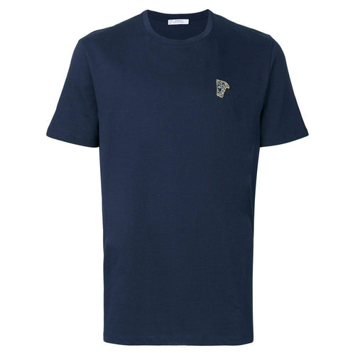 VERSACE COLLECTION Logo T-Shirt, Navy-OZNICO