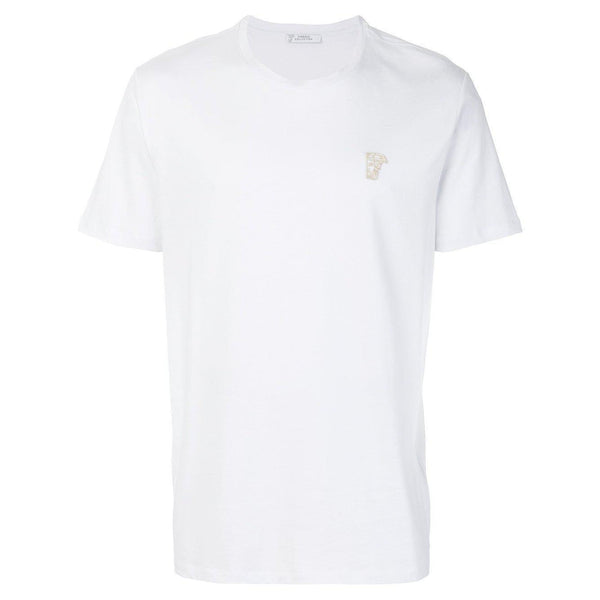 VERSACE COLLECTION Logo T-Shirt, White-OZNICO