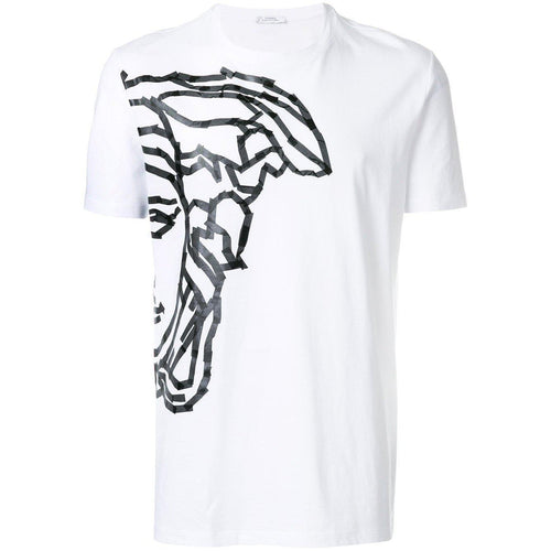 VERSACE COLLECTION Medusa Print T-Shirt, White-OZNICO