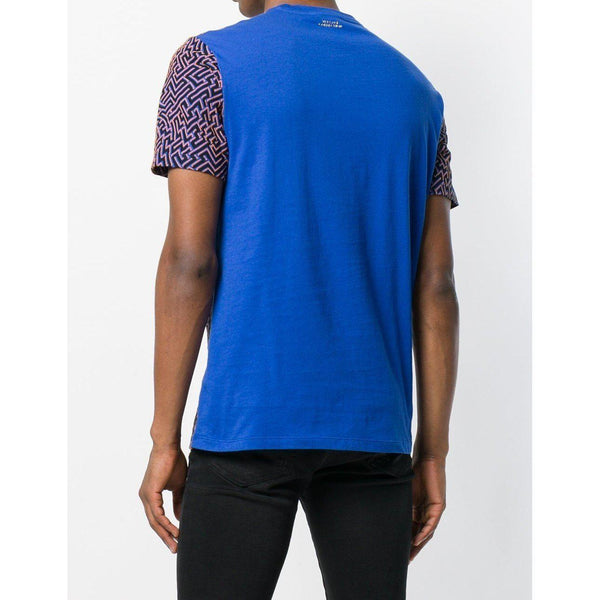 VERSACE COLLECTION Optic Print T-Shirt, Blue-OZNICO