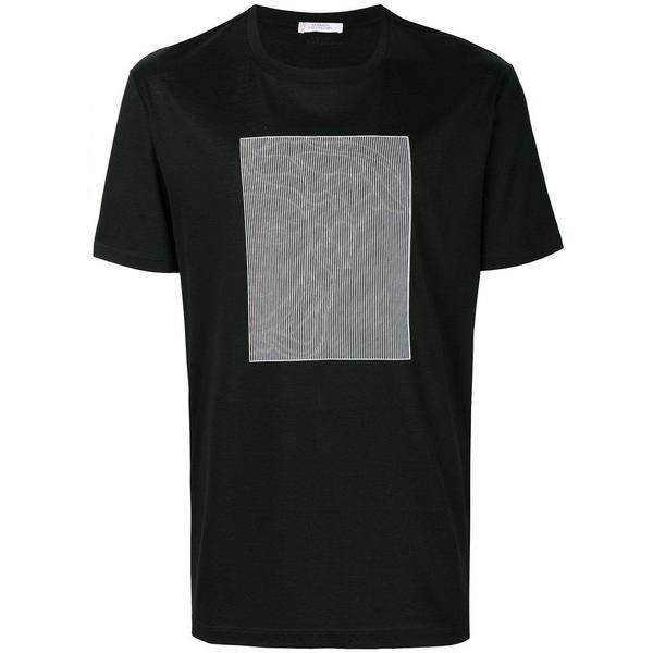VERSACE COLLECTION Optical Medusa Print T-shirt, Black-OZNICO