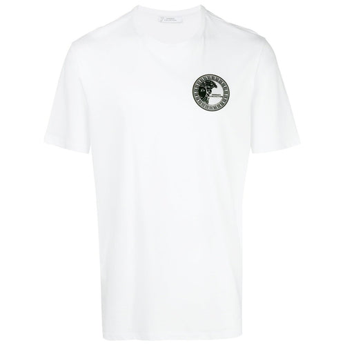 VERSACE COLLECTION Patch Logo T-Shirt, White-OZNICO