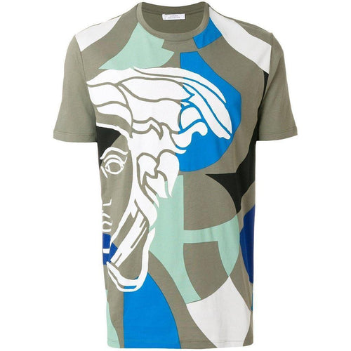 VERSACE COLLECTION Printed T-Shirt, Bronze-OZNICO