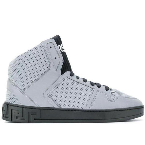 VERSACE Embossed High-top Sneakers-OZNICO