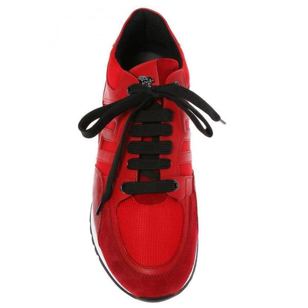 VERSACE Greek Key Contrast Running Shoes-OZNICO