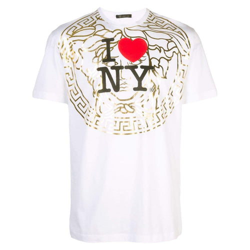 VERSACE I Love NY T-Shirt, Optical White-OZNICO
