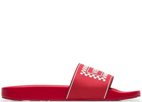 VERSACE Logo Slides, Red-OZNICO