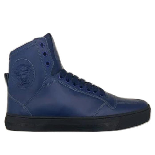 VERSACE Medusa High-top Sneakers, Royal Blue-OZNICO