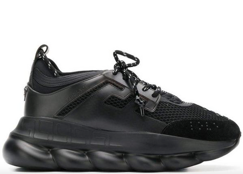 VESACE Chain Reaction Sneakers, Black-OZNICO