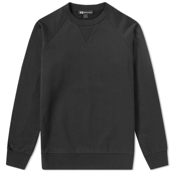 Y-3 Back Logo Crewneck, Black-OZNICO