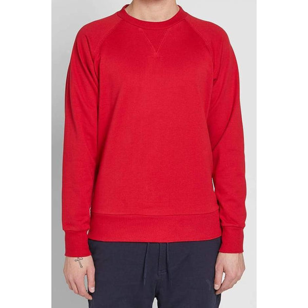 Y-3 Back Logo Crewneck, Chilli Pepper-OZNICO