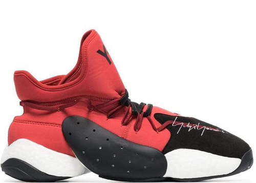 Y-3 BYW BBall Boost Sneaker, Red-OZNICO