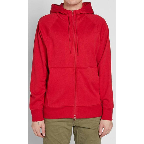 Y-3 Classic Logo Zip Hoodie, Chilli Pepper-OZNICO