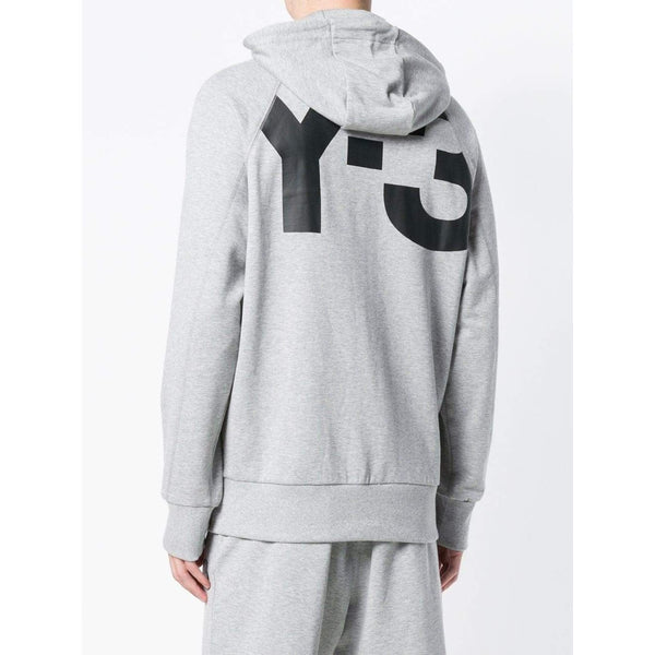 Y-3 Classic Zip Hooded Sweatshirt, Light Grey-OZNICO