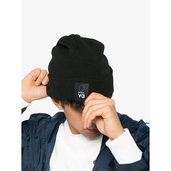 b632ee7ca Y-3 Logo Patch Beanie, Black