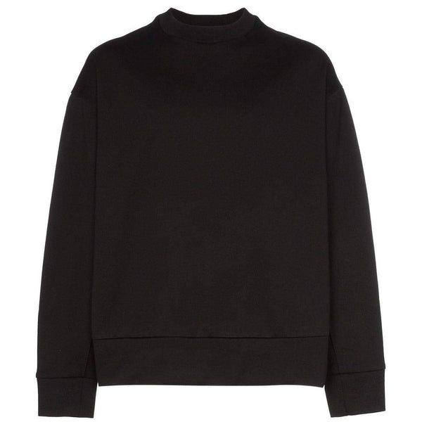 Y-3 Signature Graphic Cotton Crewneck Sweatshirt, Black-OZNICO