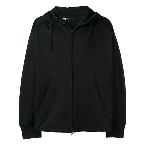 Y-3 Signature Graphic Full-Zip Hoodie, Black-OZNICO