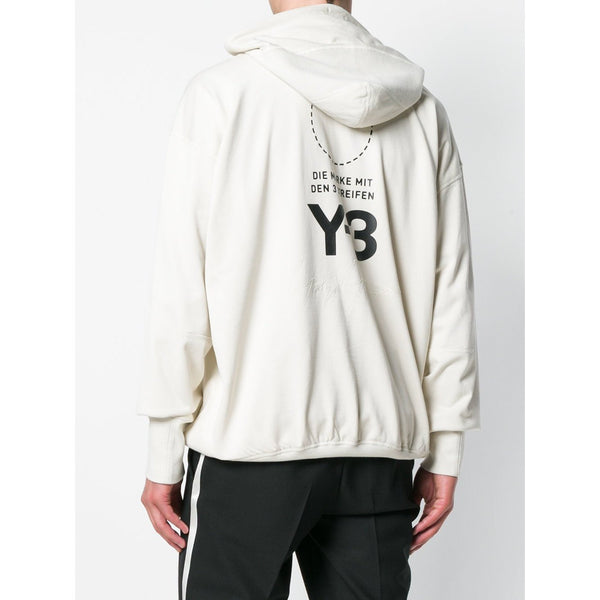Y-3 Stacked Logo Hoodie, Champagne-OZNICO