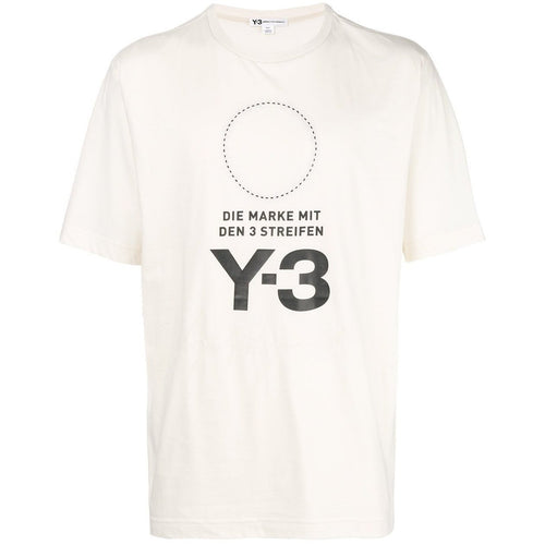 Y-3 Stacked Logo T-Shirt, Champagne-OZNICO