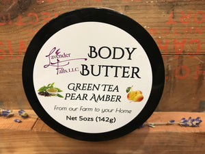 Body Butter, Green Tea Pear Amber
