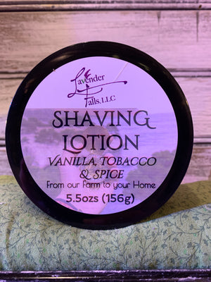 Shaving Lotion Vanilla Tobacco Spice