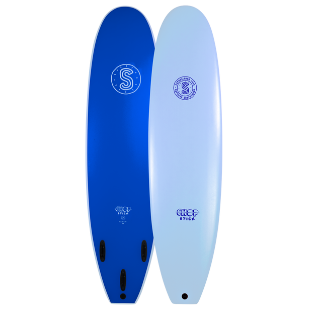 Softlite Soft Surfboards Chop Stick 7'0 Softboard  Ice Blue  / Neon Blue