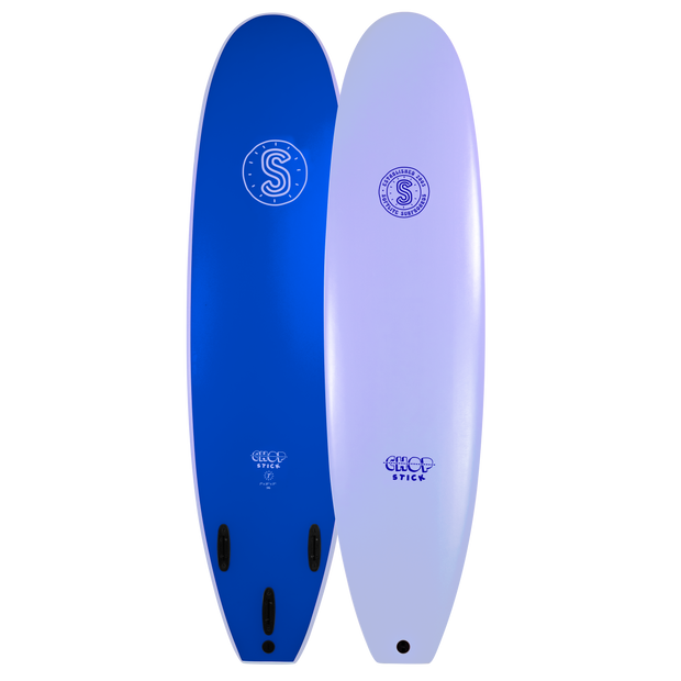 Softlite Soft Surfboards Chop Stick 7'6 Softboard  Lilac / Neon Blue