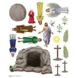 Easter Story Magnet Set