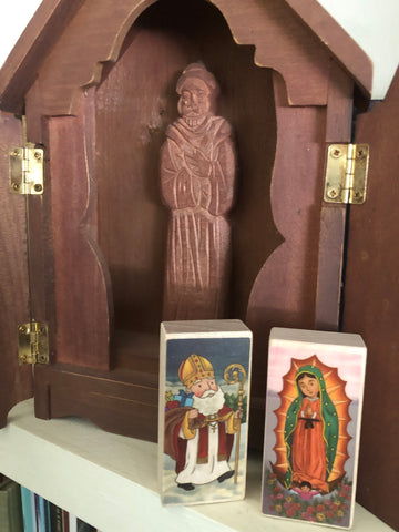 A Saint Nicholas/OL Guadalupe Prayer Blocks Set