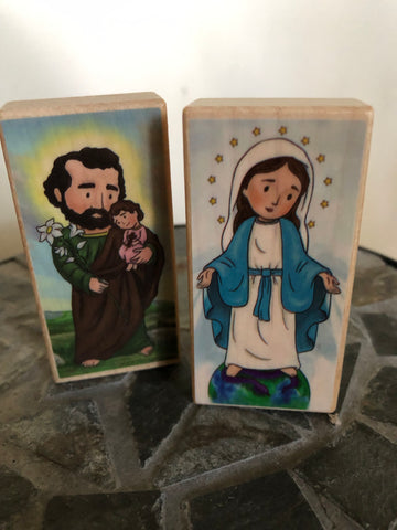 Holy Family Nativity Prayer Blocks Set