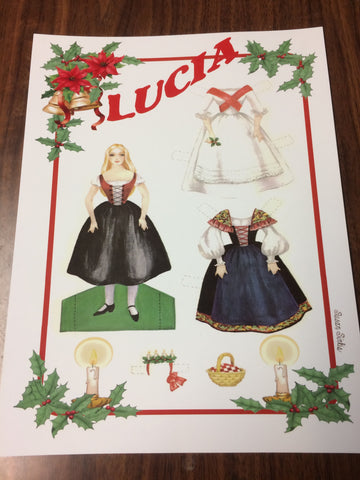 Lucia Paper Doll--Feast of St. Lucy