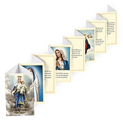 15 Promises of the Rosary Accordion Fold Booklet