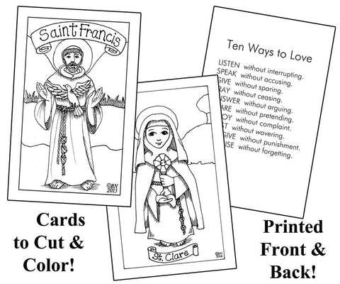Holy Cards Cut & Color