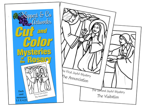 Mysteries of the Rosary Cut & Color