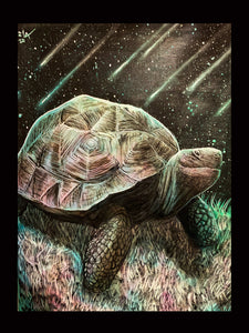 """For the Turtle Population"" Original- SOLD"