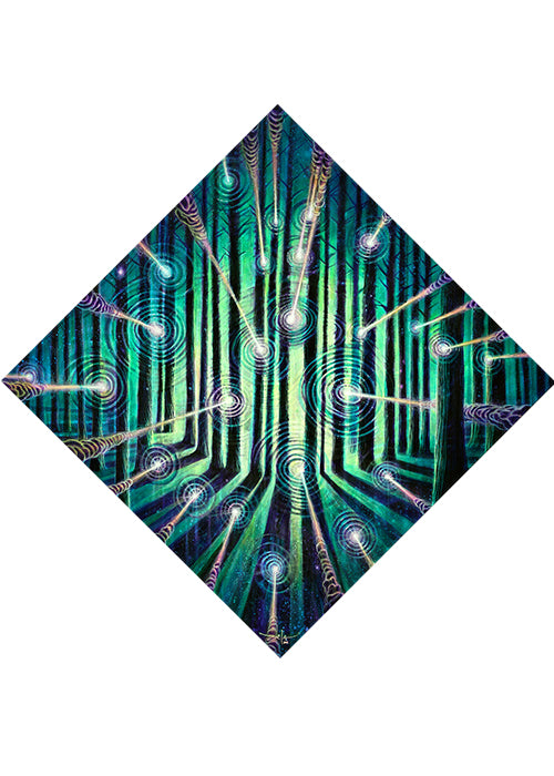 """Neon Forest"" - Canvas Prints Only"