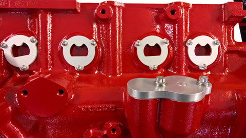 Volvo Red Block Freeze Plug Retainers - Bottle Opener, Clear Anodize