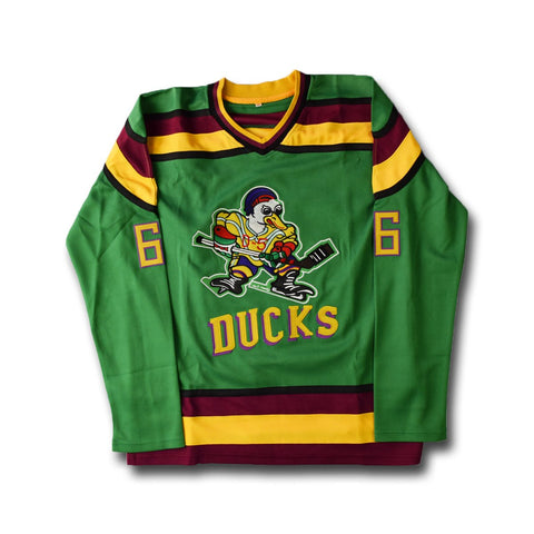 Mighty Ducks Coach Bombay 66 Hockey Movie Jersey