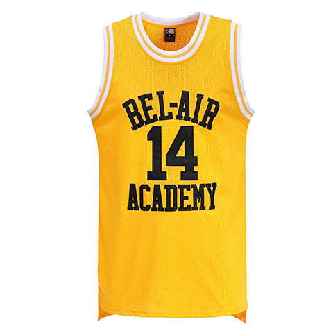 The Fresh Prince of Bel-Air Academy Basketball Jersey Yellow