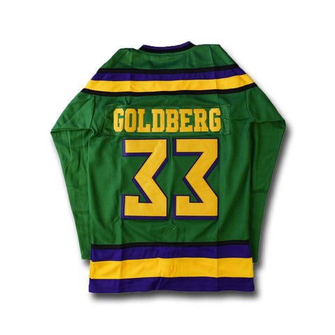 Mighty Ducks Goldberg 33 Hockey Movie Jersey
