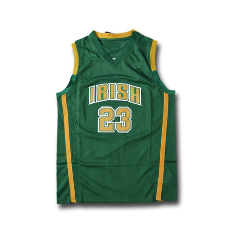 Lebron James St Vincent St Mary Irish High School Jersey - Green