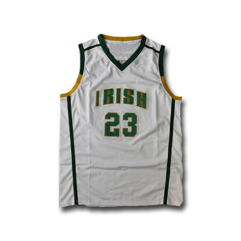 Lebron James St Vincent St Mary Irish High School Jersey White
