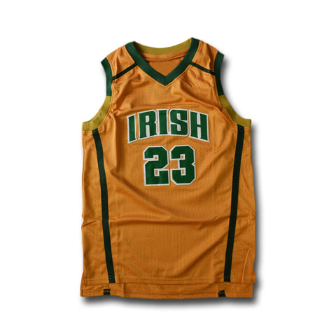 huge selection of 3691e b75ac Lebron James St Vincent St Mary Irish High School Jersey Yellow