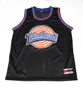 Michael Jordan #23 Looney Tunes Tune Squad Space Jam Movie Black Basketball Jersey